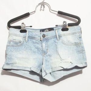 3/$30 nwt hollister jean short shorts
